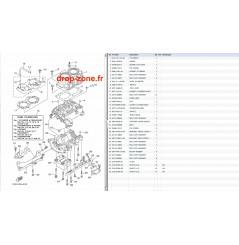 Carters/ Cylindre/ Culasse Superjet 700 08-16