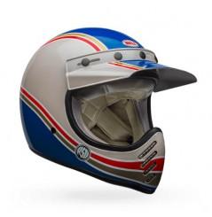 Casque BELL Moto-3 RSD Malibu bleu/blanc