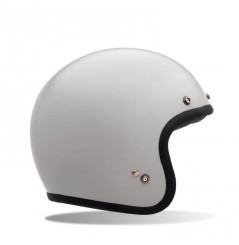 Casque BELL Custom 500 Solid Vintage blanc