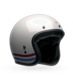 Casque BELL Custom 500 Stripes Pearl blanc