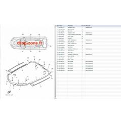 Tapis/ Listons FX HO Cruiser 15/ FX SVHO Cruiser 15/ FX SVHO 15