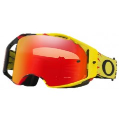 Masque OAKLEY Airbrake High Voltage Yellow/Red écran Prizm MX Torch Iridium