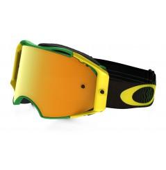 Masque OAKLEY Airbrake Shockwave vert/jaune écran 24k Iridium