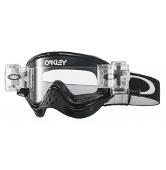 Masque OAKLEY O Frame Race-Ready Roll-Offs Jet Black écran transparent