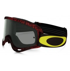 Masque OAKLEY O Frame Distress Tagline Red/Yellow écran Dark Grey