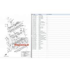 Culasse VX V1 15/ V1 Sport 12-15/ Cruiser 12-15/ Deluxe 12-15