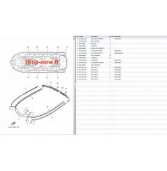 Tapis/ Listons V1 15/ V1 Sport 15/ VX Cruiser 14/ VX Deluxe 14/ VX Sport 14