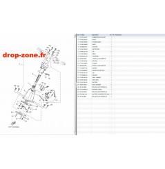 Colonne de direction EX Sport 17-20/ EX Deluxe 17-20/ EX 18-20/ EXR 19-20