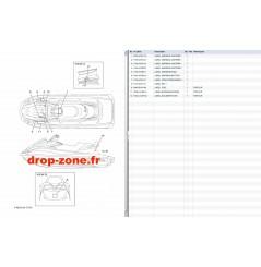 Labels sécurité VX HO Cruiser 18-19/ VX Cruiser 1050 18-19/ VX Deluxe 18-19/ VX 18-19