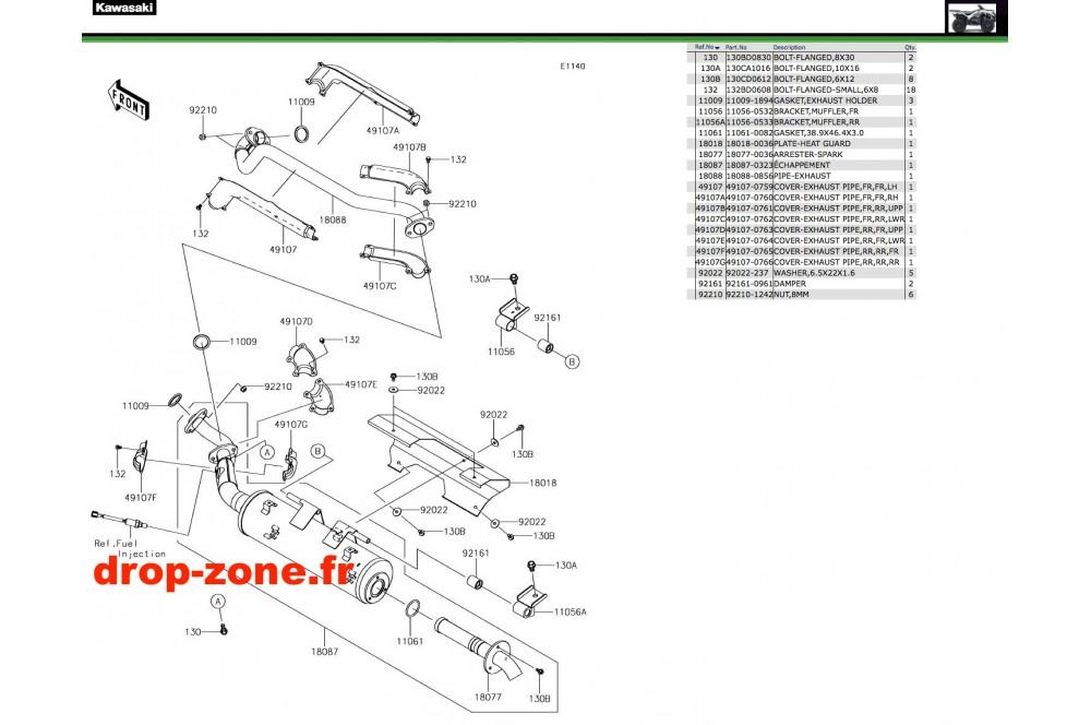 Echappement 750 i 4x4 EPS 19