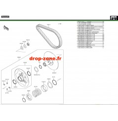 Variateur primaire/ courroie 750 i 4x4 EPS 19
