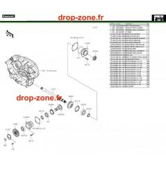 Pignon conique avant 750 4x4i EPS 19