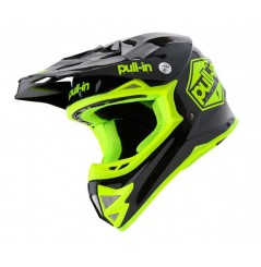 Casque cross PULL IN Solid Kid Black Neon Yellow 20