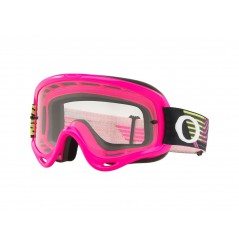 Masque OAKLEY O Frame MX Circuit Pink Green écran transparent