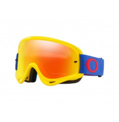 Masque OAKLEY O Frame MX jaune/bleu écran Fire Iridium + transparent