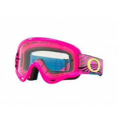Masque OAKLEY XS O Frame MX Wind Tunnel Pink écran transparent