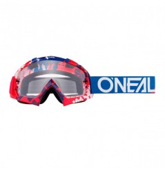 Masque Cross ONEAL B-10 Pixel Red Blue Clear