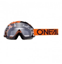 Masque Cross ONEAL B-10 Pixel Orange White Clear