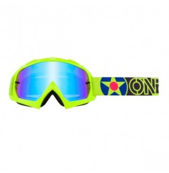 Masque Cross ONEAL B-10 Warkawk Neon Yellow Black Radium Blue