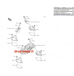 Supports moteurs STX-15F/ STX-12F/ Ultra LX/ Ultra 310-R/  310 LX/  310-X/ 300-X/ 300 LX/ 250-X/ 260-X/ SX-R 1500/ STX 160