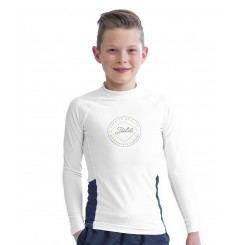 RASH GUARD LONGSLEEVE ENFANT BLANC