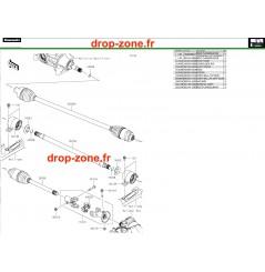 Arbre de transmission Pro DX 16-20