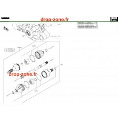 Arbre de transmission arrière Pro DX 16-20