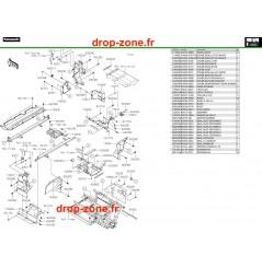 Pièces de cadre arrière Pro DX 16-20