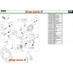 Freins arrière Pro DX 16-20
