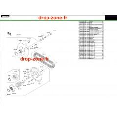 Variateur primaire/ courroie 600 10-15