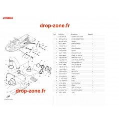 Echappement 3 EX 19/ EX Sport 19/ EX Deluxe 19/ EXR 19