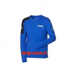 T-shirt Paddock Blue à manches longues pour homme Yamaha