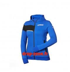 Sweat à capuche Paddock Blue pour femme Yamaha