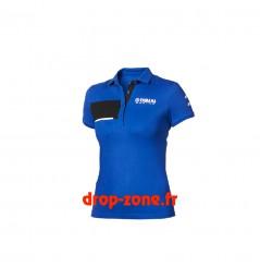 Polo piqué Paddock Blue pour femme Yamaha