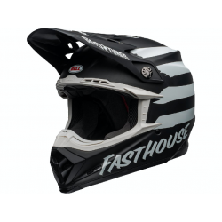 Casque BELL Moto-9 Mips Fasthouse Signia Matte Black/Chrome