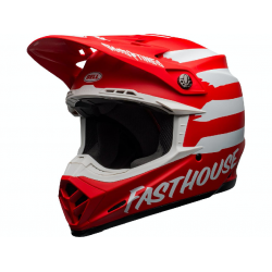 Casque BELL Moto-9 Mips Signia Matte Red/White