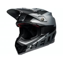 Casque BELL Moto-9 Flex Breakaway Matte Silver/Black