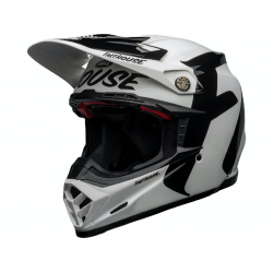 Casque BELL Moto-9 Flex Fasthouse Newhall Gloss White/Black