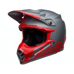 Casque BELL Moto-9 Flex Louver Matte Gray/Red