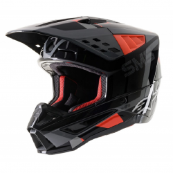 Casque Cross ALPINESTARS S-M 5 Rover Anthracite Rouge Fluo Gris Camouflage 21