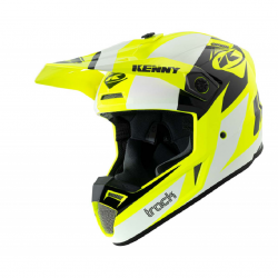 Casque Cross KENNY Track Graphic Blanc Jaune Fluo