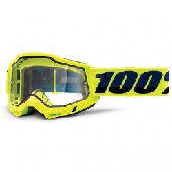 Masque Cross 100% Accuri 2.0 Enduro Jaune Clair