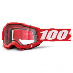 Masque Cross 100% Accuri 2.0 Enduro Rouge Clair