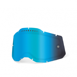 Double Ecran Ventilé 100% Racecraft-Accuri-Strata 2.0 Iridium Bleu