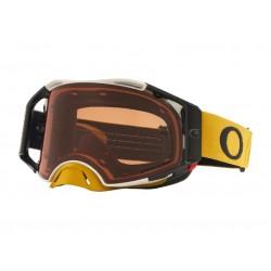 Masque OAKLEY Airbrake MX Tuff Blocks Gunmetal Gold écran Prizm MX Bronze