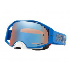 Masque OAKLEY Airbrake MX Heritage Stripe Blue écran Prizm MX Sapphire Iridium