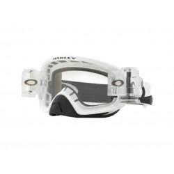 Masque OAKLEY O Frame 2.0 Pro MX Race-Ready Roll-Off Matte White écran clair