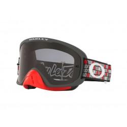 Masque OAKLEY O Frame 2.0 Pro MX Troy Lee Design Monogram Gunmetal Red écran Dark Grey