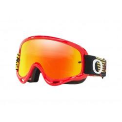 Masque OAKLEY O Frame MX Circuit Red Yellow écran Fire Iridium & clair