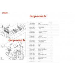 Radiateur d'huile 1050  EX 19/ EX Deluxe 19/ EX Sport 19/ EXR 19/ VX 19/ VX Cruiser 19/ VX Deluxe 19
